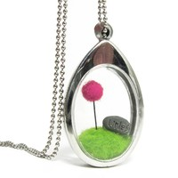 Terrarium Locket, Pom Pom Pink Tru.. on Luulla