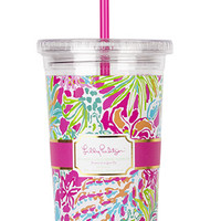 Lilly Pulitzer Tumbler with Straw- Spot Ya- FINAL SALE