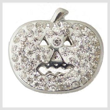 Halloween Pumpkin Clear Crystals 20mm 3/4""
