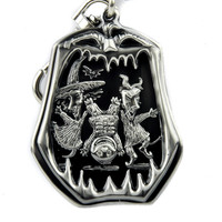 Lock Shock and Barrel Keychain Nightmare Before Christmas Pewter Keyring
