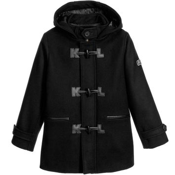 Karl Lagerfeld Boys 'Wild Block' Wool Toggle Coat