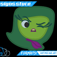 Disgust Applique Embroidery Machine Pixar Inside Out