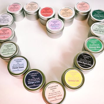 You pick 3 Soy wax candle variety pack!Soy Candle Tin, Scented Soy Candles, Hand Poured Soy Candles, Soy Candles Handmade