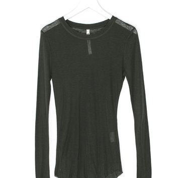 Long-Sleeved Thin Wool Shirt