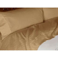 Luxury Bronze Striped- 600 Thread Count Egyptian Cotton Bed Sheet Sets in Queen