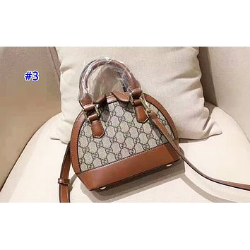 GUCCI fashion hot seller for women with printed patchwork color shell shoulder bag #3