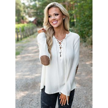 Criss-Cross V-neck Knitted Sweaters