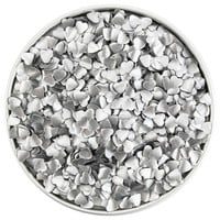 Silver Heart Edible Glitter