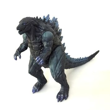 Godzilla dinosaur toy 17cm height pvc dragon head paw feet can turn Horrible monster model figures.