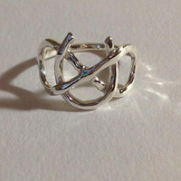 Infinity Symbol Ring Sterling Silver Infinity Ring, Sterling silver horse shoe ring