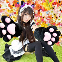 Adorable Cosplay Cat Paw Gloves For Maid Custom Props Tool Free Ship SP141193 from SpreePicky