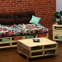 Sixth scale Coffee Table wood pallet furniture for by ckworkshop