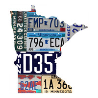 Minnesota License Plate wall decal