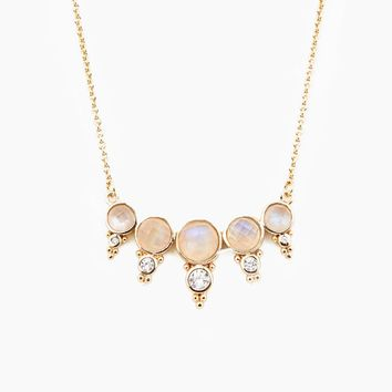 Royal Gemstone Necklace - Moonstone