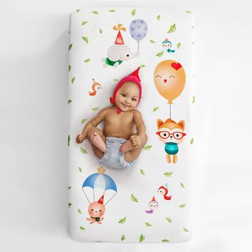 Balloon Party Crib Sheet
