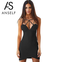 Women Summer Dress Sexy Spaghetti Strap Office Dress Short Club Party Dresses Black Pink