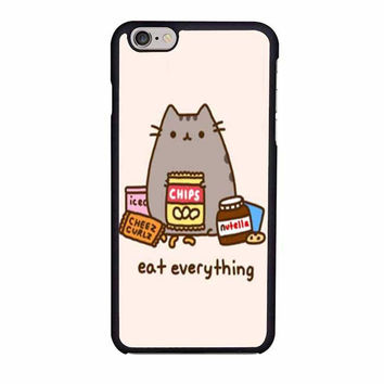 pusheen the cat eat everything case for iphone 6 6s