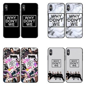 Why dont we Case Cover for Samsung Galaxy s8 s9 plus s5 s6 s7 Edge for iPhone X 8 7 6 6s Plus 5s phone cases