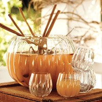 Pumpkin Punch Bowl & Mugs