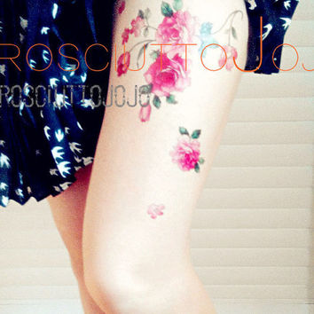 temporary tattoo red beautiful Rosa multiflora Thunb  rosa multiflora multiflora rose  rose flower