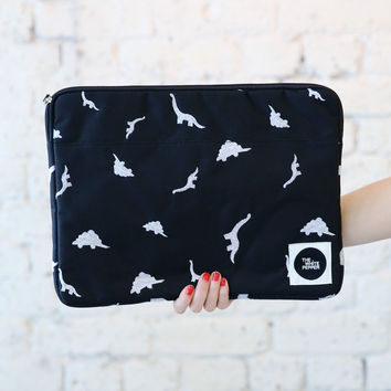 "Canvas Laptop Case 13"" Dinosaur Embroidery"