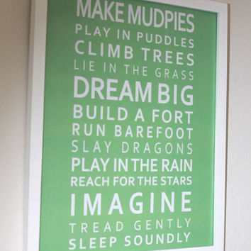 Imagine Poster  A3 297 x 420cm  117 x 165in by GraceHawk on Etsy