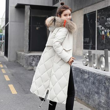 Winter Warm Down Coat Faux Fur Hooded Parka Puffer Jacket