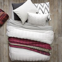 Stripe Sheet Set - White/Feather Gray
