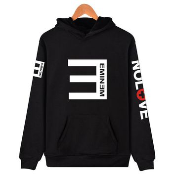 Streetwear Moletom Sweatshirts Men Alan Walker Loose Hoodies Eminem RAP Music Hip Hop Men and Women Lil peep Pullover