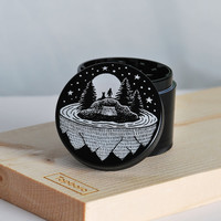 Laser engraved herb grinder | Man on the isle grinder by Topboro