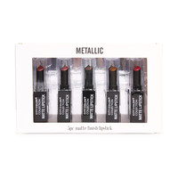 City Color Collection Metallic 5pc Matte Finish Lipstick