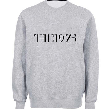 the 1975 logo sweater Gray Sweatshirt Crewneck Men or Women for Unisex Size with variant colour