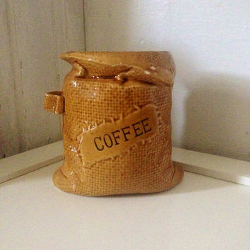 Vintage 1990s Ceramic Coffee Container