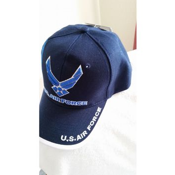 U.S. Air Force New Blue Ball Cap with shadow logo and tags
