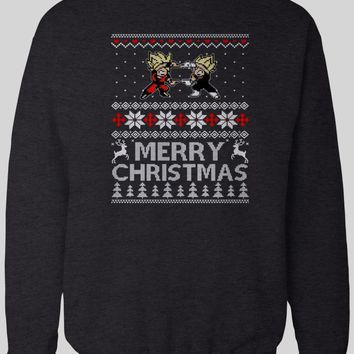DRAGONBALL Z INSPIRED MERRY CHRISTMAS WINTER SWEATER
