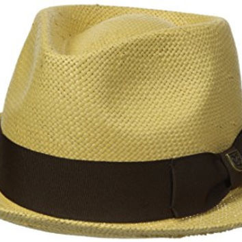 Brixton Men's Baxter Fedora Hat, Tan/Brown, Large