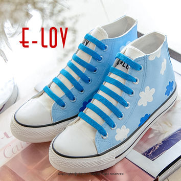 Fashion Men's Canvas Shoes of Creative Hand Painted High Casual Shoes Diy Valentine Gifts Shoes