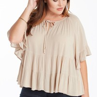 Remember Me Flutter-Sleeved Top Plus Size