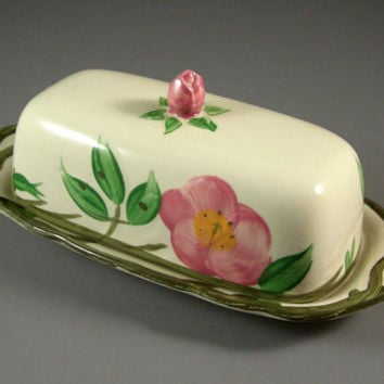 Franciscan Ware Desert Rose Butter Dish from UBlinkItsGone