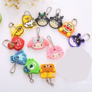 2 PCS/lot Cartoon Silicone Protective Key Case Cover for Key Control Dust Cover Holder Organizer EMOJI Home  Supplies