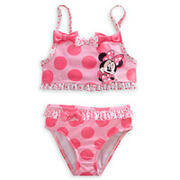 Minnie Mouse Swimsuit for Girls - Pink 2-Piece