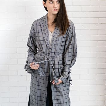 Cherokee Plaid Long Coat