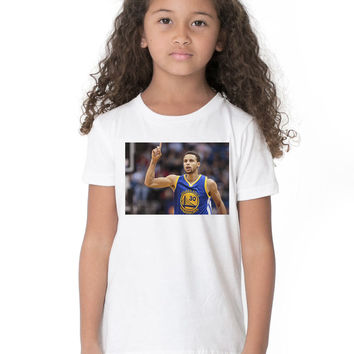 Kids Custom Tee Shirt - Steph Blue Jersey