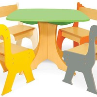 P'kolino - Tree Table with Zebra & Giraffe Chairs