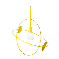 Untitled Sun Large Pendant Yellow-Transparent plastic by Untitled Story