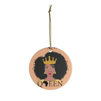 The Queen Gold And Orange Ceramic Ornaments