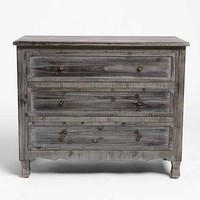 Classic 3-Drawer Dresser- Dark Grey One