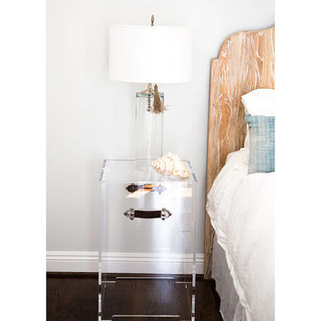 Acrylic side table