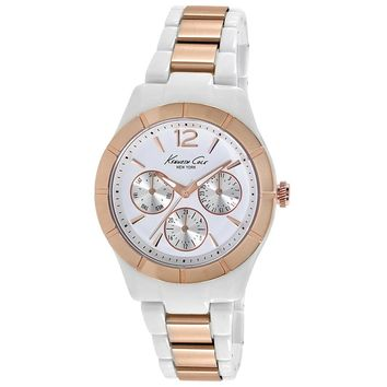 Kenneth Cole KC0001 Women's New York Classic White Dial Steel & Plastic Bracelet Watch