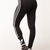 TREFOIL LEGGINGS - Black/White Leggings by ADIDAS ORIGINALS